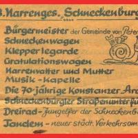 Umzug Fasnachtssonntag: Die Schneckenburg als achte Gruppe.