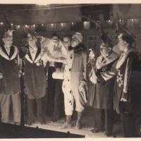 Großer Bunter Abend im Ziegelhof: Die ersten Fanfarenklänge durch Alex Volz.