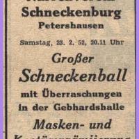 Das Programm der Schneckenburg.