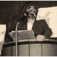 Bunter Abend: Aus der Bütt verkündete Paul Bischoff seine närrischen Weißheiten.