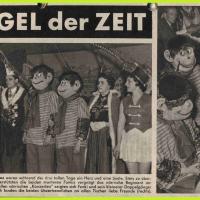 """Bunter Abend: Die """"Funk und Fernseh Illistrierte"""" zu Besuch bei den Schnecken."""