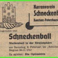Der Schneckenball fand erstmals im Schützen statt. Es spielten die Optimisten.