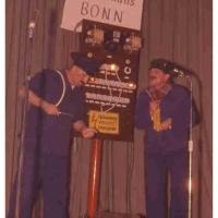 Bunter Abend: Sie zogen seltsame Vergleiche, die beiden Bundes-Elektriker A. Koch und P. Bischoff.