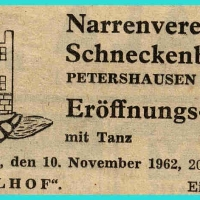 11.11.: Eröffnung im Ziegelhof.