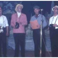 Bunter Abend im Schützen: Ein musikalisches Kaleidoskop veranstalteten die Sänger R. Borho, W. Mutter, D. und W. Stöß, W. Theuerjahr, W. Zinkhöfer.
