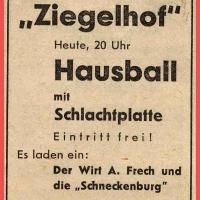 Hausball im Ziegelhof.
