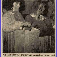 E. Bischoff und W. Schär als Max und Moritz bei den Hegner Schlafkappen.