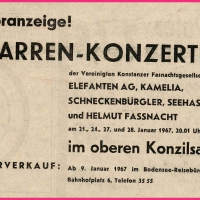 Narrenkonzerte der Vereinigung Konstanzer Narrengesellschaften im Konzil.