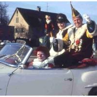 Schmutziger Donnerstag: Präsident Konti I. mit der letzten Schneckenprinzessin Karin Haller.