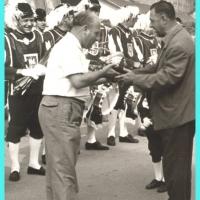 Der Fanfarenzug in Tarcento: Als Reiseleiter fungierte Betriebsleiter Walter Buck.