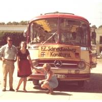 Der Fanfarenzug in Tarcento: Der Bus machte eine kleine Pause.