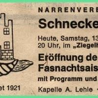 Fasnachtseröffnung im Ziegelhof unter der Leitung von Reinhard Schmalbach.