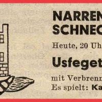 """Die Schneckenburg behielt ihren Kehraus im Ziegelhof aber bei. Die Veranstaltung wurde aber in Usfegete (diesmal mit """"e"""" geschrieben) umbenannt."""