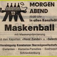 Maskenball im Konzil.