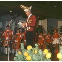 25 Jahre Fanfarenzug Schneckenburg: Dieter Stöß führte gekonnt durch die gelungene Veranstaltung.