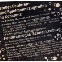 25 Jahre Fanfarenzug Schneckenburg: Das Programm.