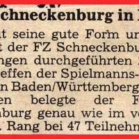 Fanfarenzug Schneckenburg in Form.