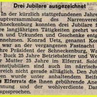 Eröffnung der neuen Fasnachtssaison: Drei Jubilare ausgezeichnet.