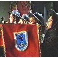 Narrenkonzerte im Konzil: Die vier Fanfarenbläser der Schneckenburg beim Einmarsch von Helmut Faßnacht als König Barbarossa.
