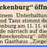 """Eröffnung der neuen Fasnachtssaison: """"Schneckenburg"""" öffnet Tore."""