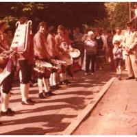 Der Fanfarenzug unter der Leitung von Günter Uetz spielte bei der alljährlichen Franzosenmesse auf.