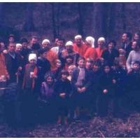 Zum traditionellen Narrenbaumholen trafen sich wieder Groß und Klein im Wald bei Hegne.