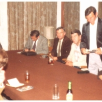 Elferratssitzung im Sitzungssaal des Hotels Hogarth in London,