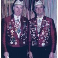 60 Jahre Schneckenburg: Betriebsleiter Wolfgang Theuerjahr und Kassier Ludwig Degen.