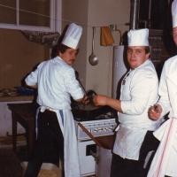 60 Jahre Schneckenburg: In der Küche war was los. Viele Mäuler mussten gestopft werden.