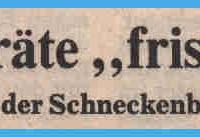 Fasnachtseröffnung der Schneckenburg: Südkurier-Bericht.