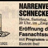 Fasnachtseröffnung der Schneckenburg: Südkurier-Anzeige.