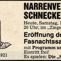 Fasnachtseröffnung im Ziegelhof: Südkurier-Anzeige.