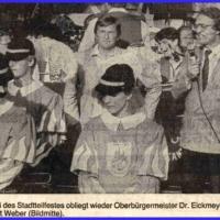 Der Fanfarenzug bei der Eröffnung des Stadtteilfestes in Petershausen.