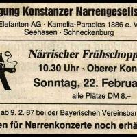 Frühschoppen-Konzert im Konzil: Südkurier-Anzeige.