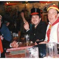 Fasnacht im Seerheincenter: Die Clowngruppe nach dem Auftritt.