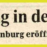 11.11. in der Handwerkskammer: Zeitungs-Artikel