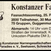 Umzug in der Stadt: Zeitungs-Anzeige.