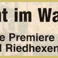 Schneeschreck-Erwachen: Erstmals mit den Wollmatinger Riedhexen.