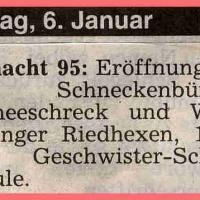 Schneeschreckerwachen: Voranzeige in der Zeitung.
