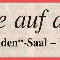 11.11. in der Linde: Zeitungsüberschrift.