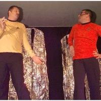 11.11. in der Linde: Raumschiff Enterprise mit Kirk (Rolf Reisacher) und Scotty (Jörg Deicher).