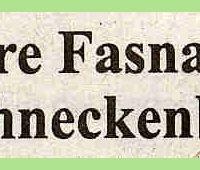 80 Jahre Schneckenburg: Zeitungsüberschrift.
