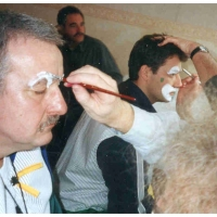 Clowngruppe beim Carneval in Viareggio: Jeder kam mal dran.