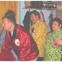 11.11. in der Linde: Das Ansagerduo Susi und Heinz warteten auf den nächsten Einsatz.