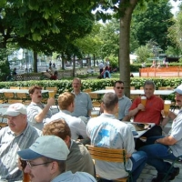 Die Clowngruppe war am Vatertag unterwegs in Friedrichshafen.