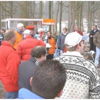 Narrenbaumholen in Hegne: Nach der Arbeit folgte der offizielle Teil.