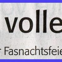 Fasnachtsparty im Rheingold: Zeitungsartikel.