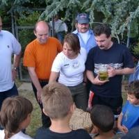 Schneckenburg Gartenfest: Das Nagelspiel brachte wie immer viel Spaß.