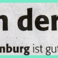 Das neue Narrenbaumloch: Zeitungsüberschrift.