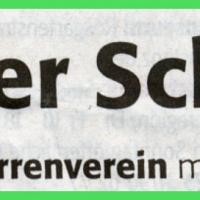 Der Schneckenbürgler Räuber wurde gegründet: Zeitungsüberschrift.